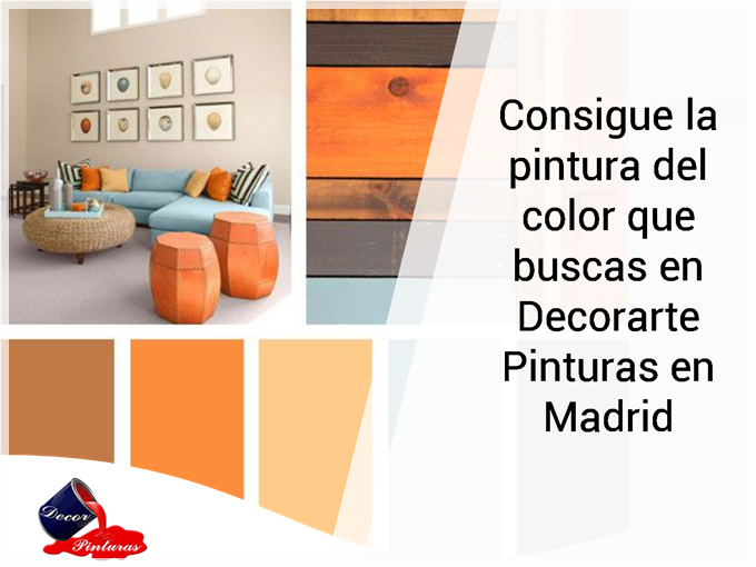 Consigue la pintura del color que buscas en Decorarte Pinturas en Madrid